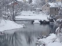 Gospic. Winter in Gospic & x28;Croatia& x29 Stock Images