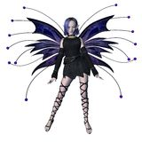 Winter Goth Fairy - 1. Digital render of a goth-style winter fairy vector illustration