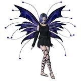 Winter Goth Fairy - 2. Digital render of a goth-style winter fairy royalty free illustration