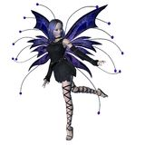 Winter Goth Fairy - 3. Digital render of a goth-style winter fairy vector illustration