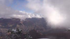 Winter at Grand Canyon stock video