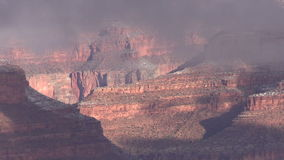 Winter in the Grand Canyon stock video footage
