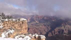 Winter in the Grand Canyon stock video