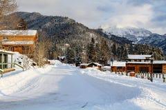 Winter in Grand Lake, Colorado stock photo