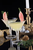 Winter Grapefruit Martini Royalty Free Stock Photo