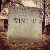 Winter Gravestone Royalty Free Stock Image