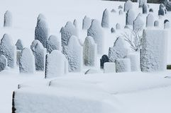 Winter graveyard Royalty Free Stock Photo