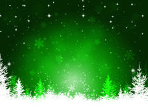 Winter Green Christmas Background stock illustration