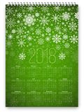 Calendar 2018 Vector Royalty Free Stock Images