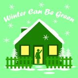 Winter green house Stock Photography