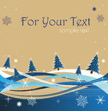 Winter greeting Royalty Free Stock Images