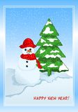 Winter greeting cad Royalty Free Stock Photos