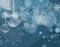 Winter greeting card Stock Images