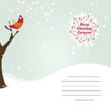 Winter Greeting Card Stock Image