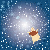 Winter greeting card Royalty Free Stock Images
