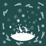 Winter greeting card Stock Photo