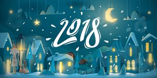 Winter greeting card for New Year celebrate royalty free illustration