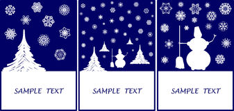 Winter greeting-cards Royalty Free Stock Photo