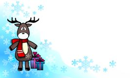 Winter greeting from deer Stock Photography