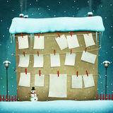 Winter Greeting House stock illustration