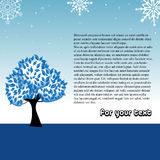 Winter greeting with tree Stock Photos