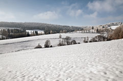 Winter Greetings from snowy landscape Royalty Free Stock Photo