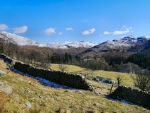 Winter in grisedale valley, lake district Stock Photography