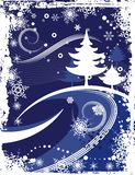 Winter grunge background Stock Images