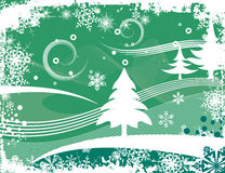 Winter grunge background. Abstract winter grunge background with pine trees,  illustration series Royalty Free Stock Photo