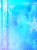 Winter grunge background. With swirls and stencils Royalty Free Stock Image