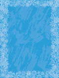 Winter grunge background with a snowflakes. Vector Royalty Free Stock Photography