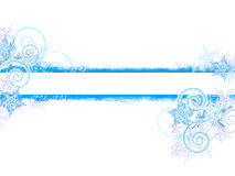 Winter grunge banner. On white Royalty Free Stock Image