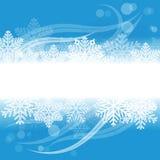 Winter Grunge Banner Stock Image