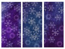 Winter grunge banners Royalty Free Stock Photo