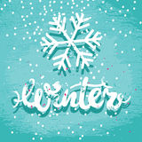 Winter grunge card Stock Images