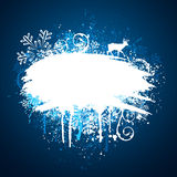 Winter grunge design Stock Image