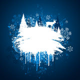 Winter grunge design Royalty Free Stock Photo