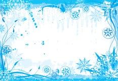 Winter grunge floral frame royalty free stock image
