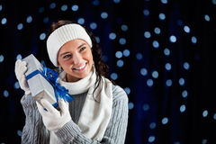 Winter: Guessing Gift Contents Royalty Free Stock Image