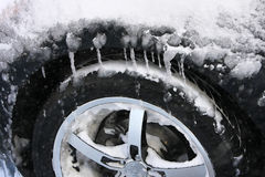 Winter-Gummireifen Stockbild