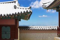 Winter at Gyeongbokgung Palace. In Seoul,South Korea royalty free stock images
