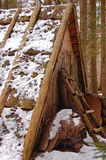 Winter-Häuschen lizenzfreie stockbilder
