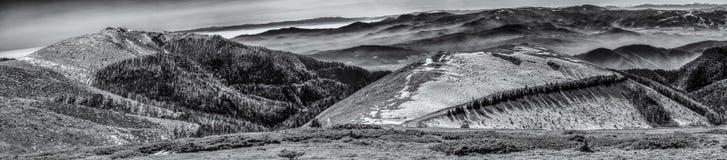 Winter-Hügel Stockfoto