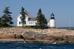 Winter-Hafen-Leuchtturm im Acadia-Nationalpark, Maine Lizenzfreie Stockbilder