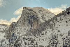 Winter Half Dome Royalty Free Stock Photography