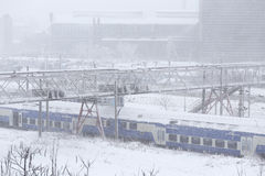 Winter hall trains. Stock Photography