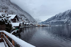 Winter in Hallstatt Lizenzfreies Stockbild