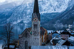 Winter Hallstatt Stock Photo