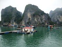 Winter in Halong-Bucht, Vietnam, Asien Lizenzfreie Stockbilder