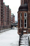 Winter at Hamburg Speicherstadt Stock Image